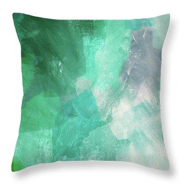 Beach Glass 3- Art By Linda Woods Throw Pillow