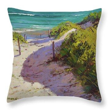 Beach Sand Dunes Throw Pillow