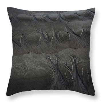 Throw Pillow featuring the photograph Beach Textures by Awais Yaqub