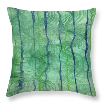 Beach Water Lines Throw Pillow