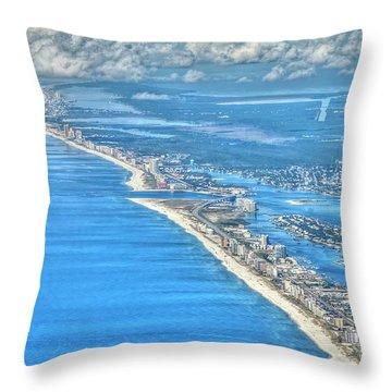 Beachmiles-5137-tonemapped Throw Pillow