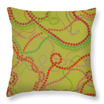 Beads And Pearls  - Happy Girl Throw Pillow