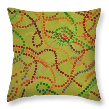 Beads And Pearls - September Throw Pillow