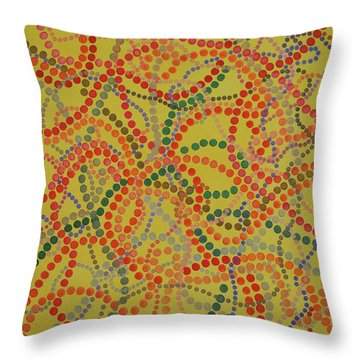 Beads And Pearls - Spicy Throw Pillow