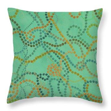 Beads - Under The Ocean Throw Pillow