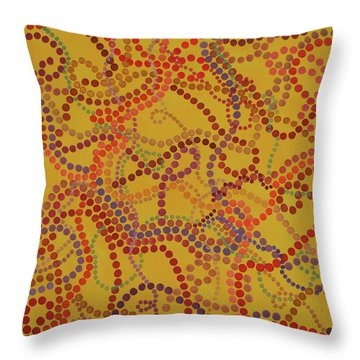 Beady And Pearls - Spicy 3 Throw Pillow