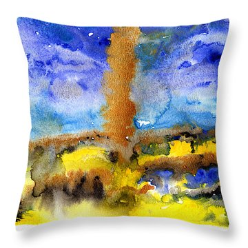 Throw Pillow featuring the painting Beam Of Light by Bee-Bee Deigner