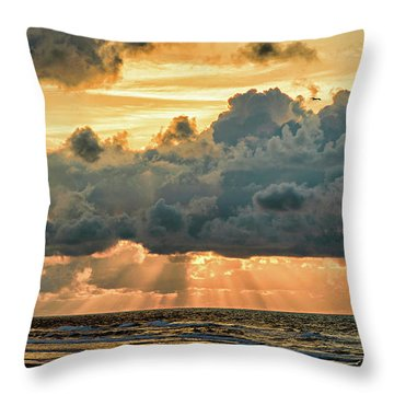 Beaming Through Throw Pillow