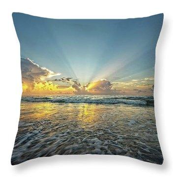 Beams Of Morning Light 2 Throw Pillow