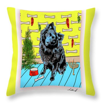 Bear Paw Holiday Throw Pillow