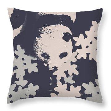 Bearing Winter Throw Pillow