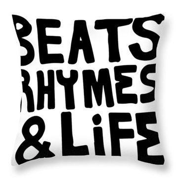 Beats Rhymes _ Life A Tribe Called Quest Classic New York Hip Hop Throw Pillow