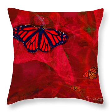 Beautiful And Fragile In Red Throw Pillow