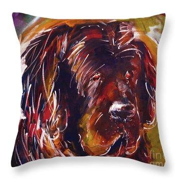Beautiful Dog Painting  Throw Pillow