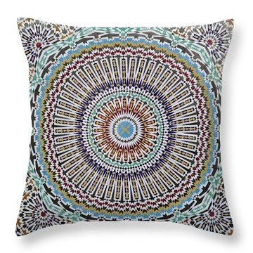 Beautiful Infinity Desgn Mosaic Fountain Throw Pillow