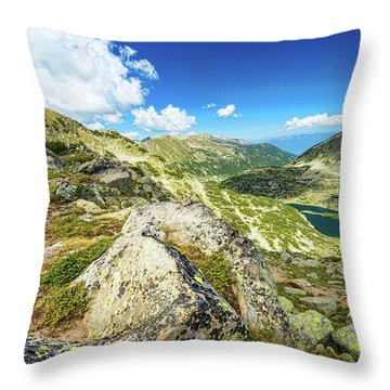 Beautiful Landscape Of Pirin Mountain Throw Pillow