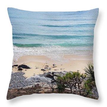 Beautiful Noosa Beach  Throw Pillow