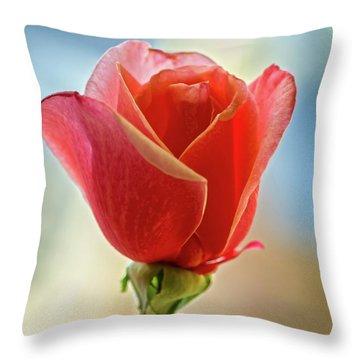 Beautiful Red Bud Throw Pillow