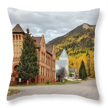 Throw Pillow featuring the photograph Beautiful Small Town Rico Colorado by James BO Insogna