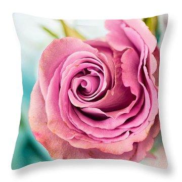 Beautiful Vintage Rose Throw Pillow