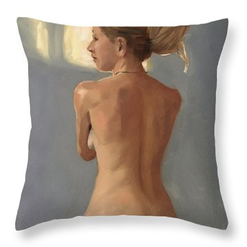 Beauty From Behind Throw Pillow