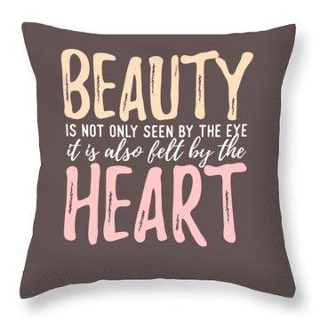 Beauty Heart Throw Pillow