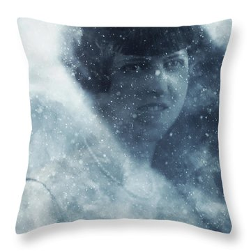 Beauty In The Snow Throw Pillow