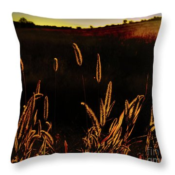 Beauty In Weeds Throw Pillow