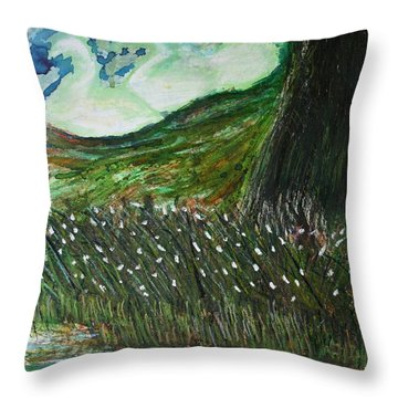Beauty Is His Abusive Kingdom Throw Pillow
