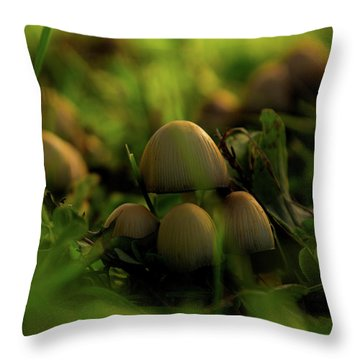 Beauty Of Fungus Throw Pillow