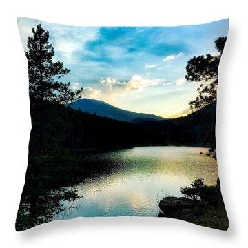 Throw Pillow featuring the photograph Beaver Brook Lake by Dan Miller