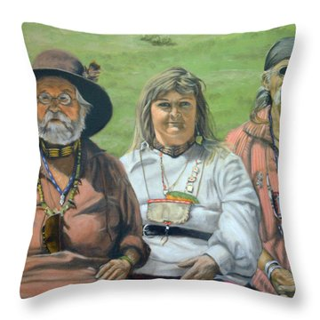 Beaver Camp Throw Pillow