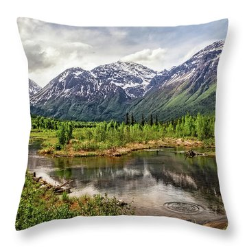 Beaver Pond, Eagle River Ak Throw Pillow