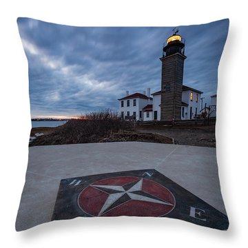 Beavertail Lighthouse Throw Pillow