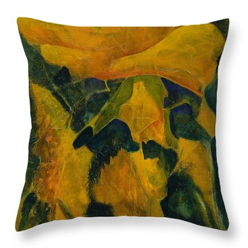 Becoming Abstract Throw Pillow