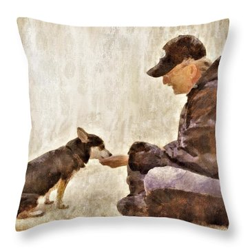 Becoming Friends Throw Pillow