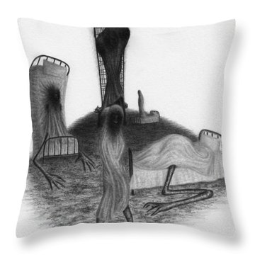 Bed Sheets - Artwork Throw Pillow