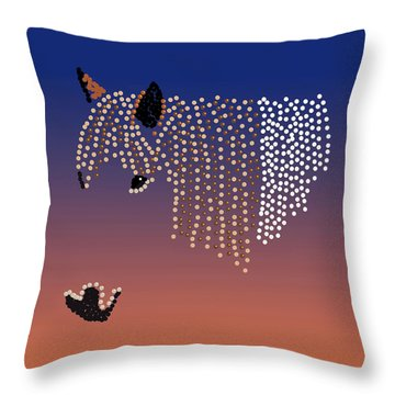 Bedazzled Horse's Mane Throw Pillow