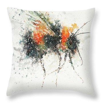 Bee Study Throw Pillow
