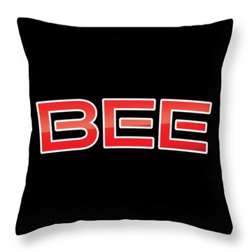 Throw Pillow featuring the digital art Bee by TintoDesigns