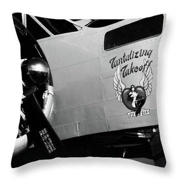 Beech At-11 Bw Throw Pillow