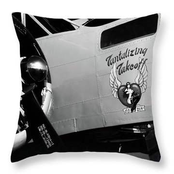 Beech At-11 Bw Throw Pillow