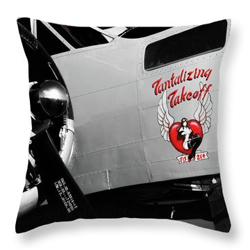 Beech At-11 In Selective Color Throw Pillow