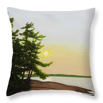 Throw Pillow featuring the painting Beechey Point by Kenneth M Kirsch