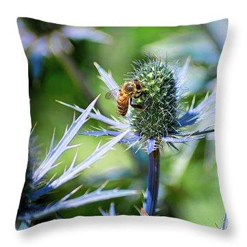 Bee's Got The Blues Throw Pillow