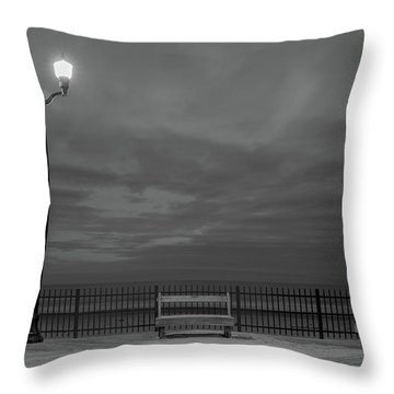 Before Dawn On The Boards Throw Pillow