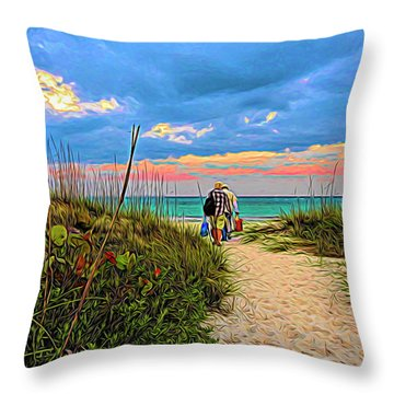 Beginning Of A Fishing Story Throw Pillow