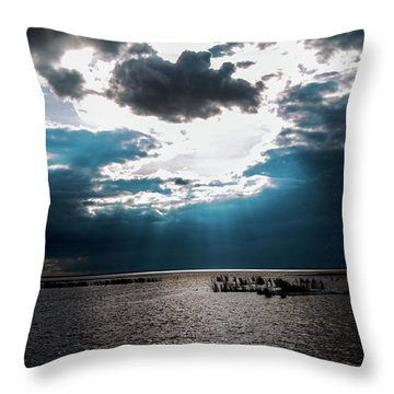 Beginning Of The End Of The Day Throw Pillow
