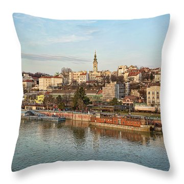 Belgrade Cityscape Throw Pillow