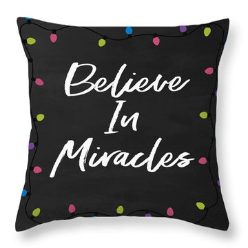 Believe In Miracles 2-art By Linda Woods Throw Pillow